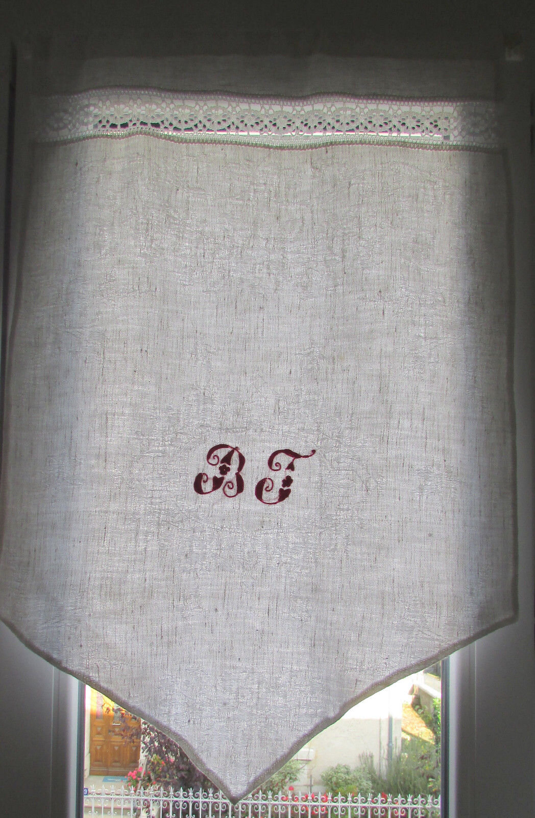 rideaux linge recycle monogramme bf