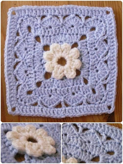 Carr Au Crochet Plouf Dans Lherbe