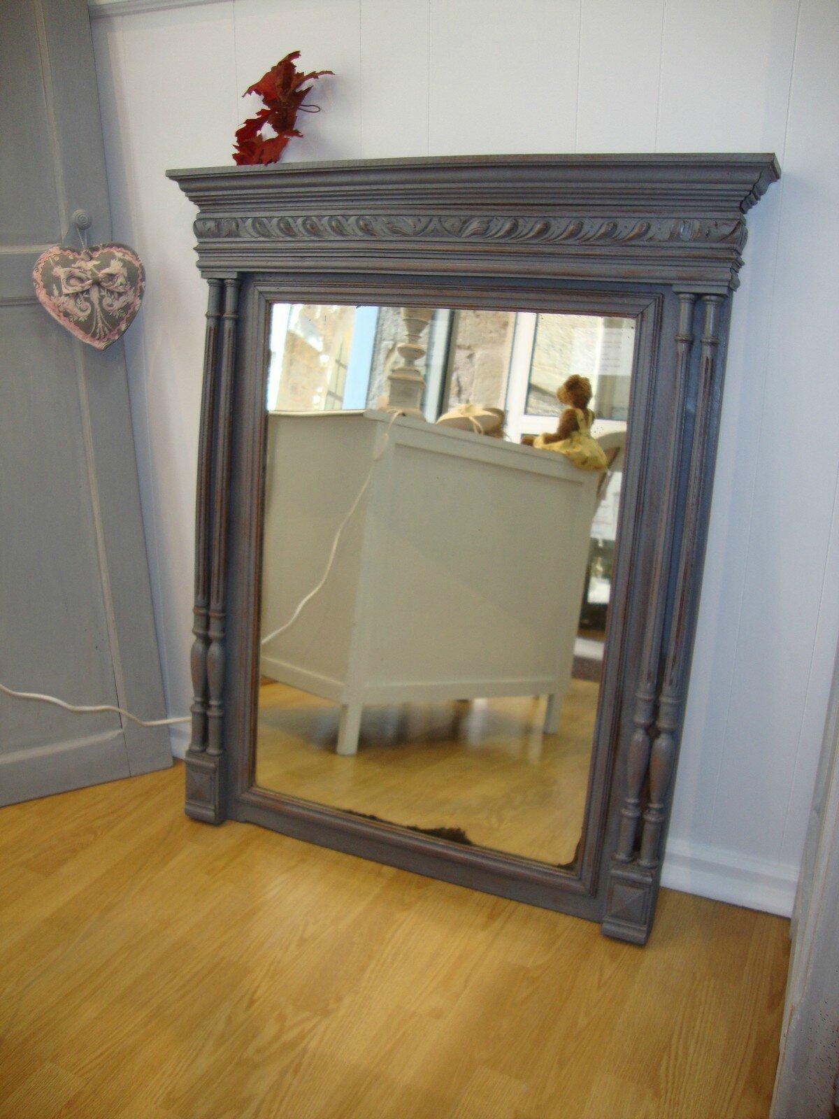 trumeau miroir ancien taupe kreative