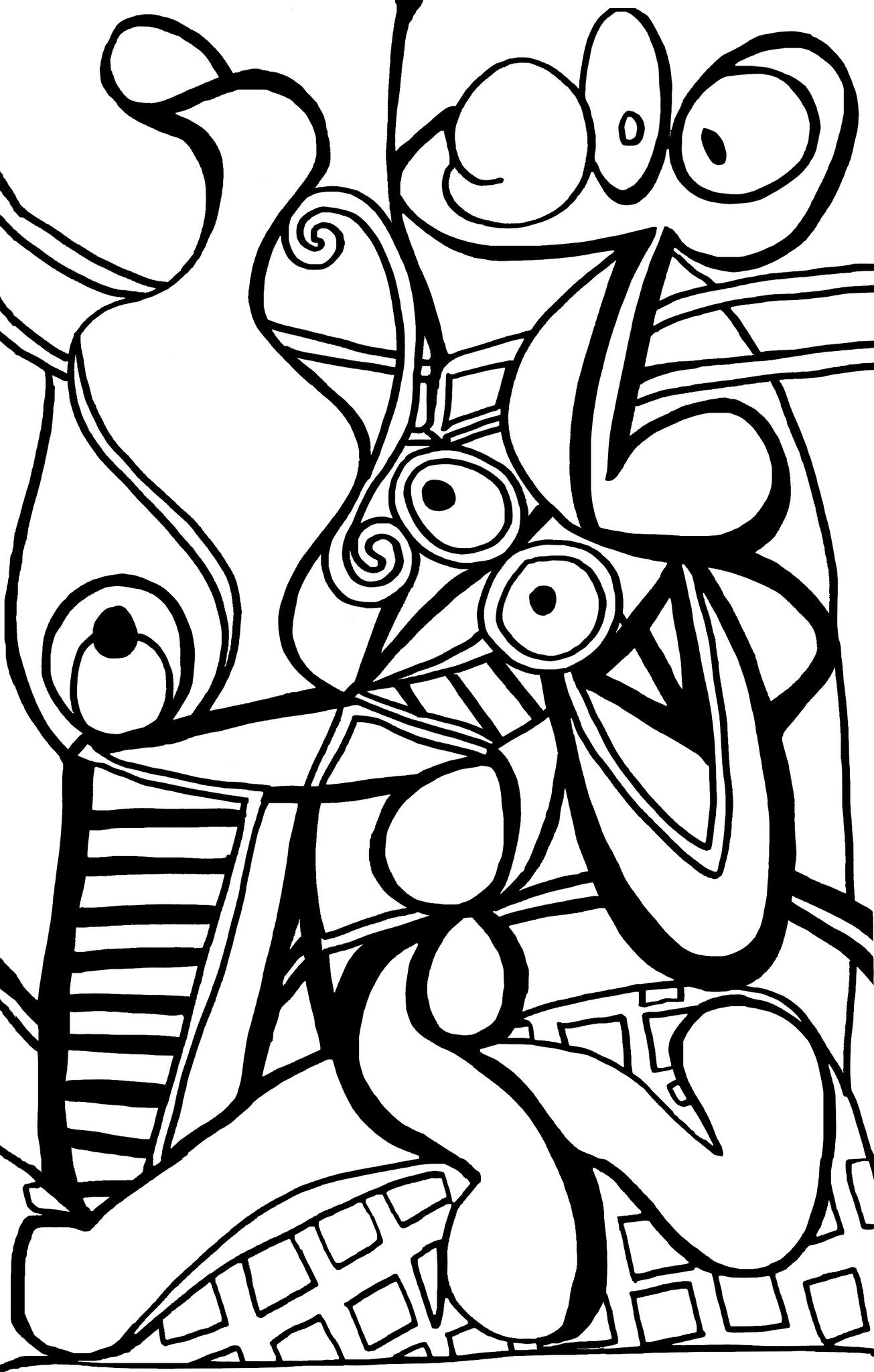 Tableau Picasso Noir Et Blanc Nm89