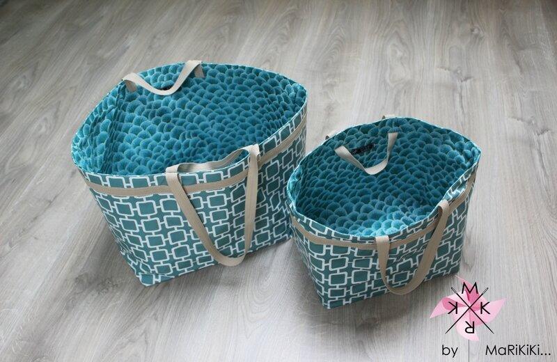 03 sacs bleus vintage