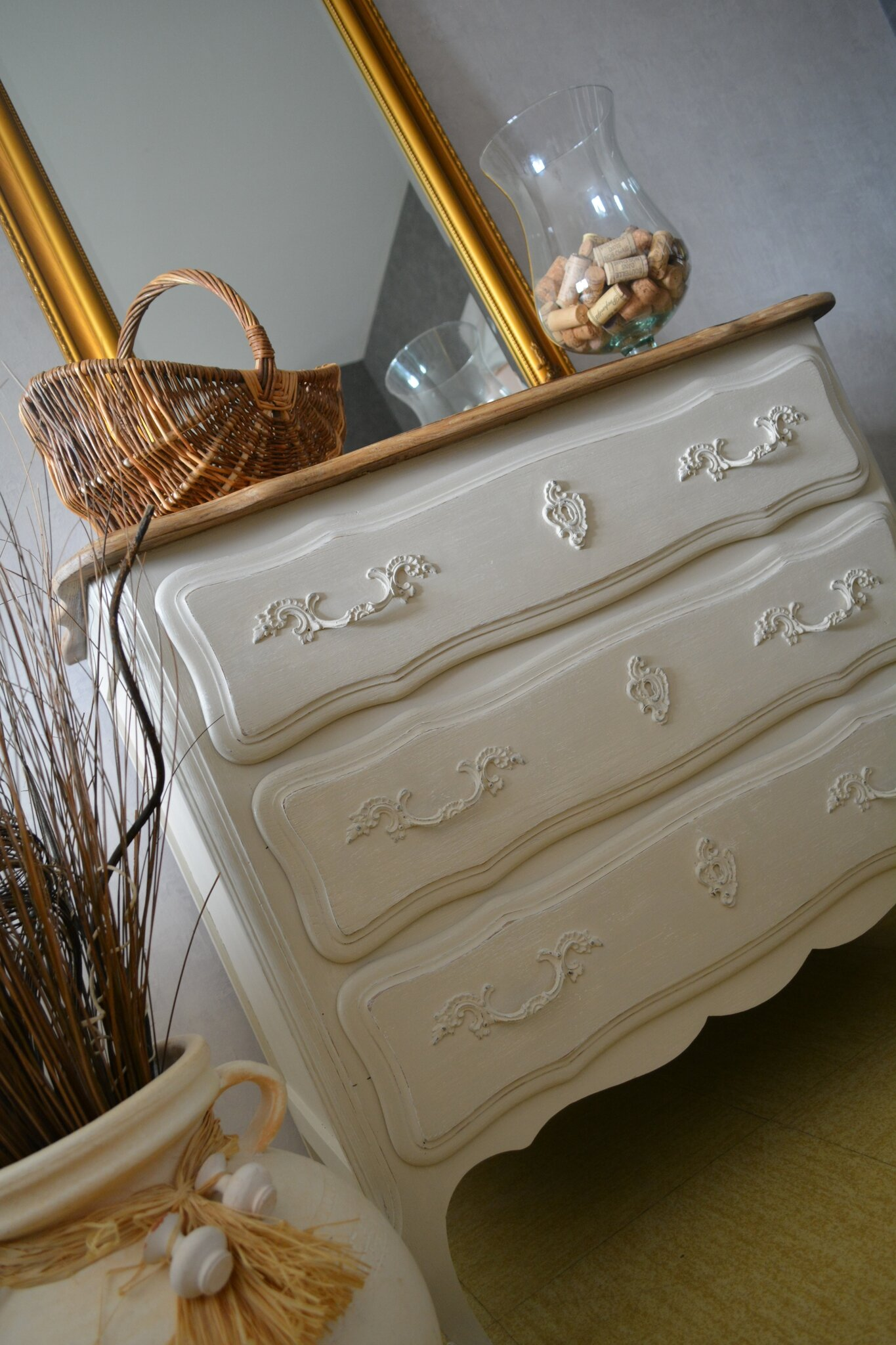 Commode En Chne Campagne Shabby Chic Les Patines D