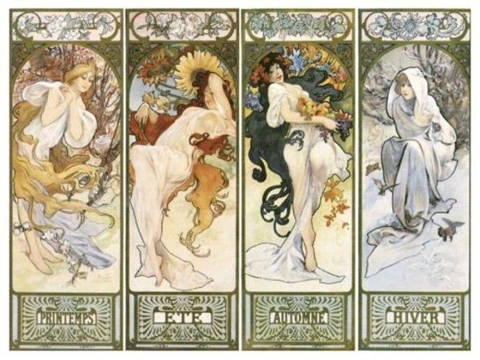 """Résultat de recherche d'images pour """"tableaux de maitres """" les quatre saisons """""""""""