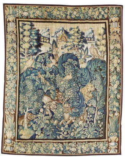 feuille de choux tapisserie des ateliers de la marche tapisseries des flandres tenture a ramages bruges xvieme siecle