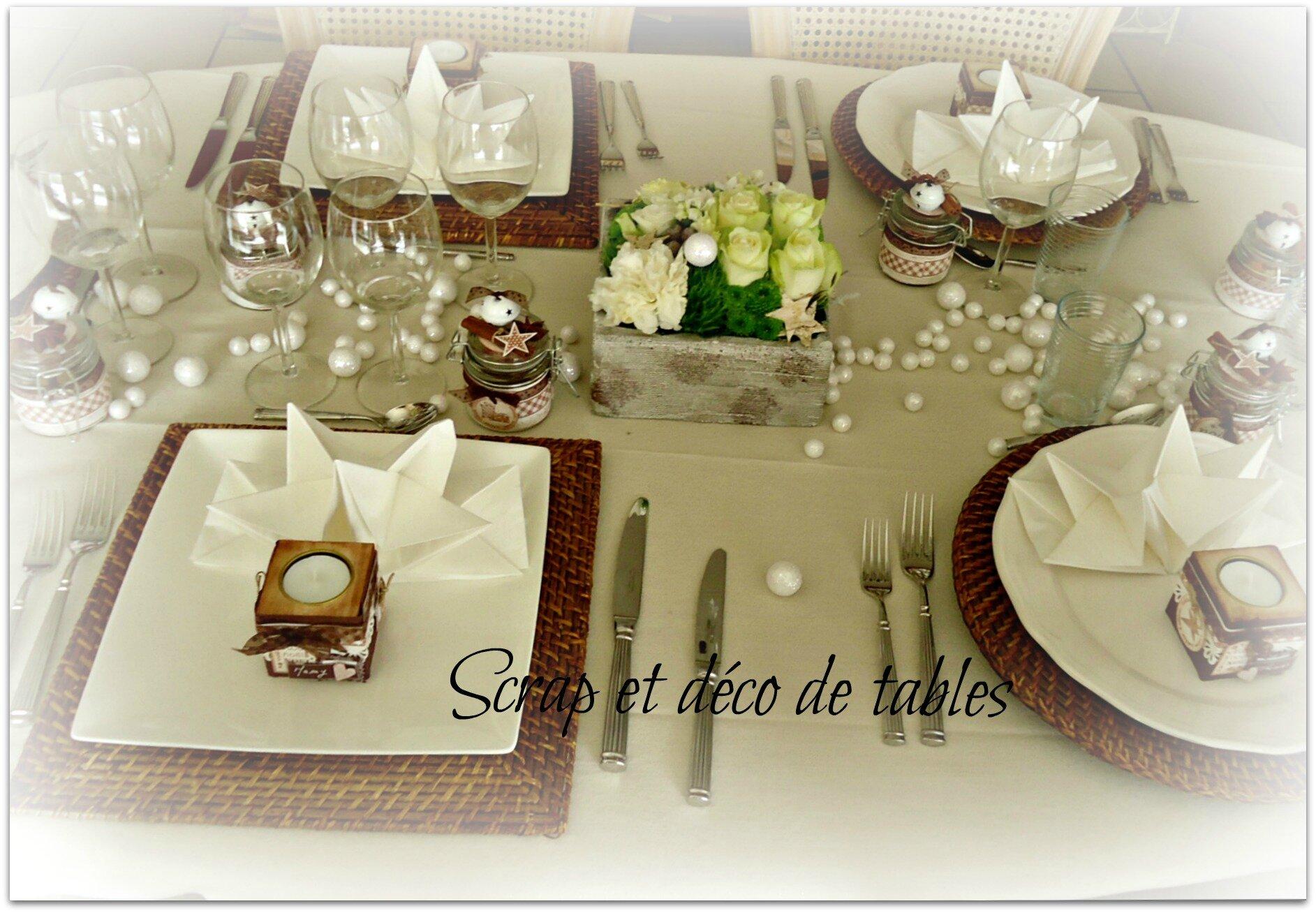 amazing dco table de noel deco de table de nol blancbrun scrap et with table de noel blanc et or with decor de table de noel