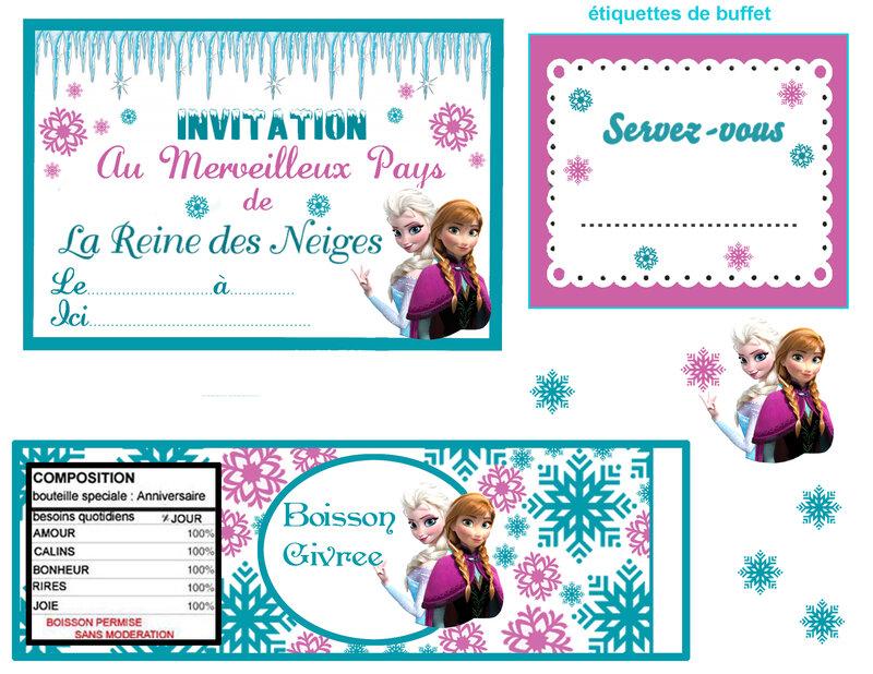 Tout pour un anniversaire reine des neiges magique myplanner le blog invitation reine des neiges stopboris Images