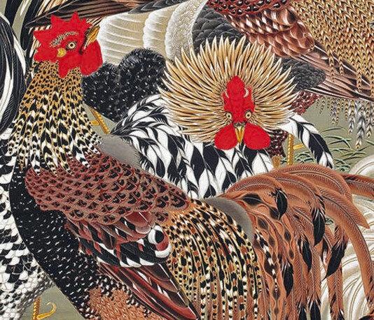 coqs et poules en majeste au petit