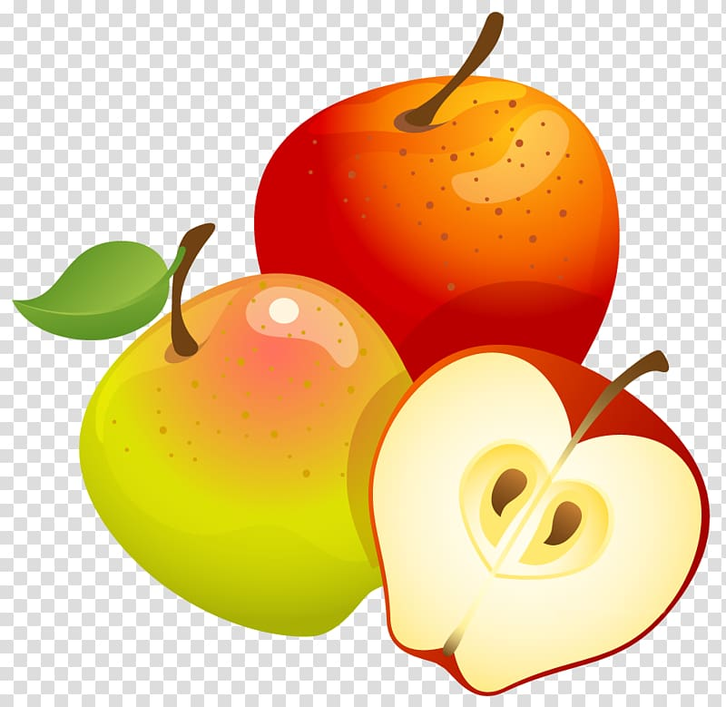 Apples Fruit Tree Euclidean Large Painted Apples Transparent Background Png Clipart Hiclipart