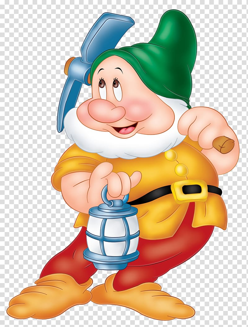 Snow White And The Seven Dwarf Dwarf Character Snow White Seven Dwarfs Sneezy Dopey Grumpy Dwarf Transparent Background Png Clipart Hiclipart