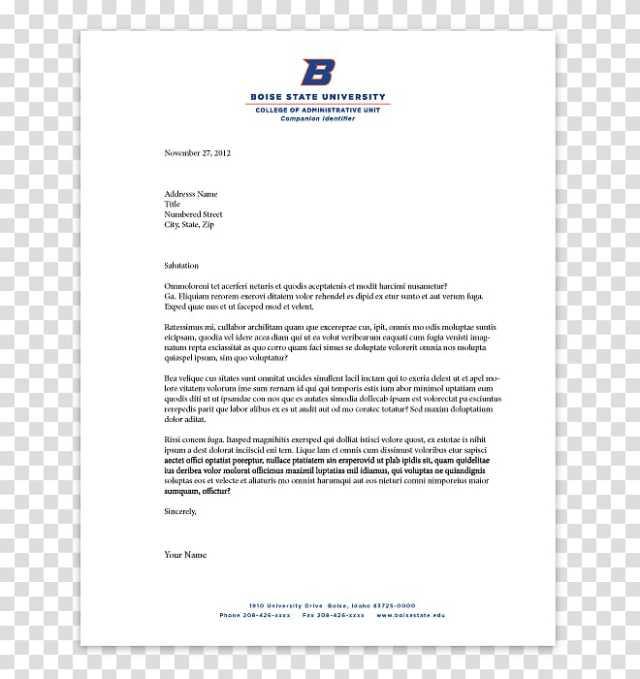 Letterhead Business Letter Paper Boise