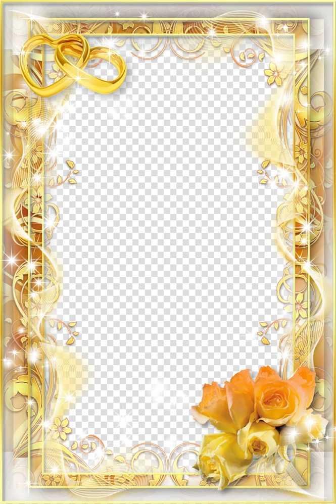 Wedding Invitation Frame Yellow Flower