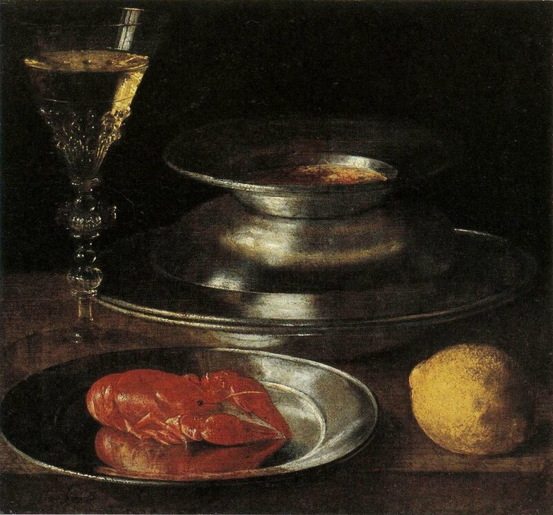 Ecrevisse et citron , hst , 28,5 x 31,5cm - musée des Beaux-Arts , le Havre
