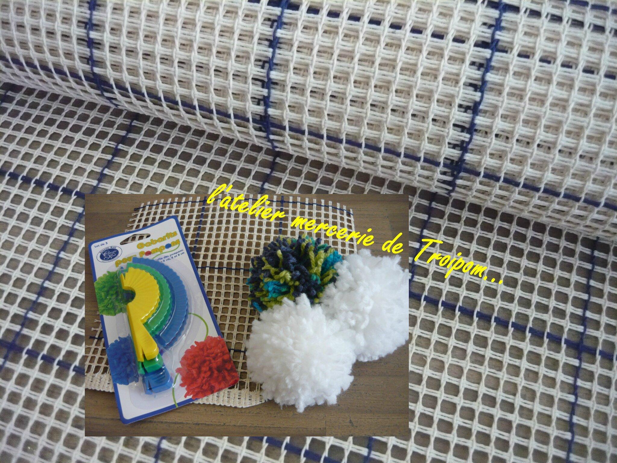 tapis pompon l atelier mercerie de