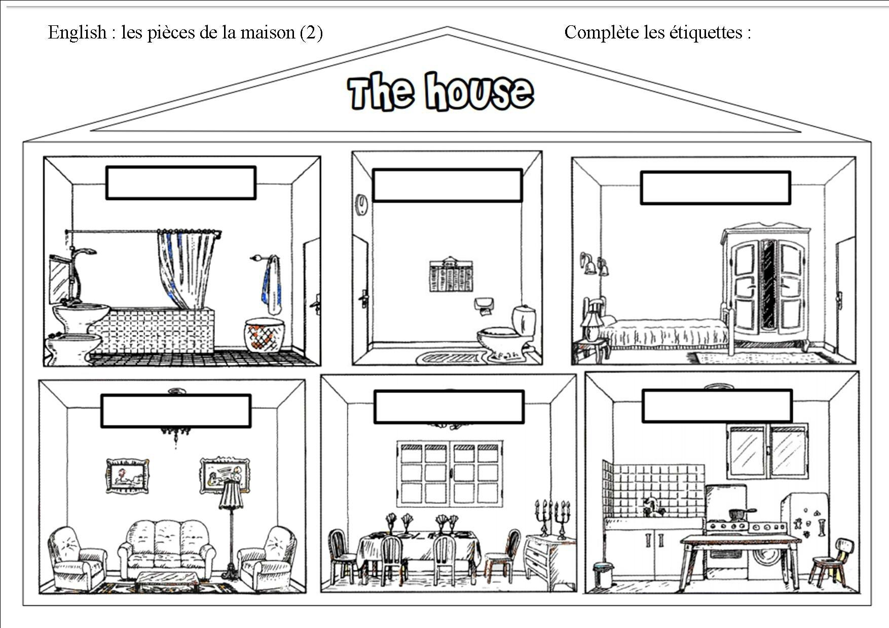 Anglais Les Pieces De La Maison
