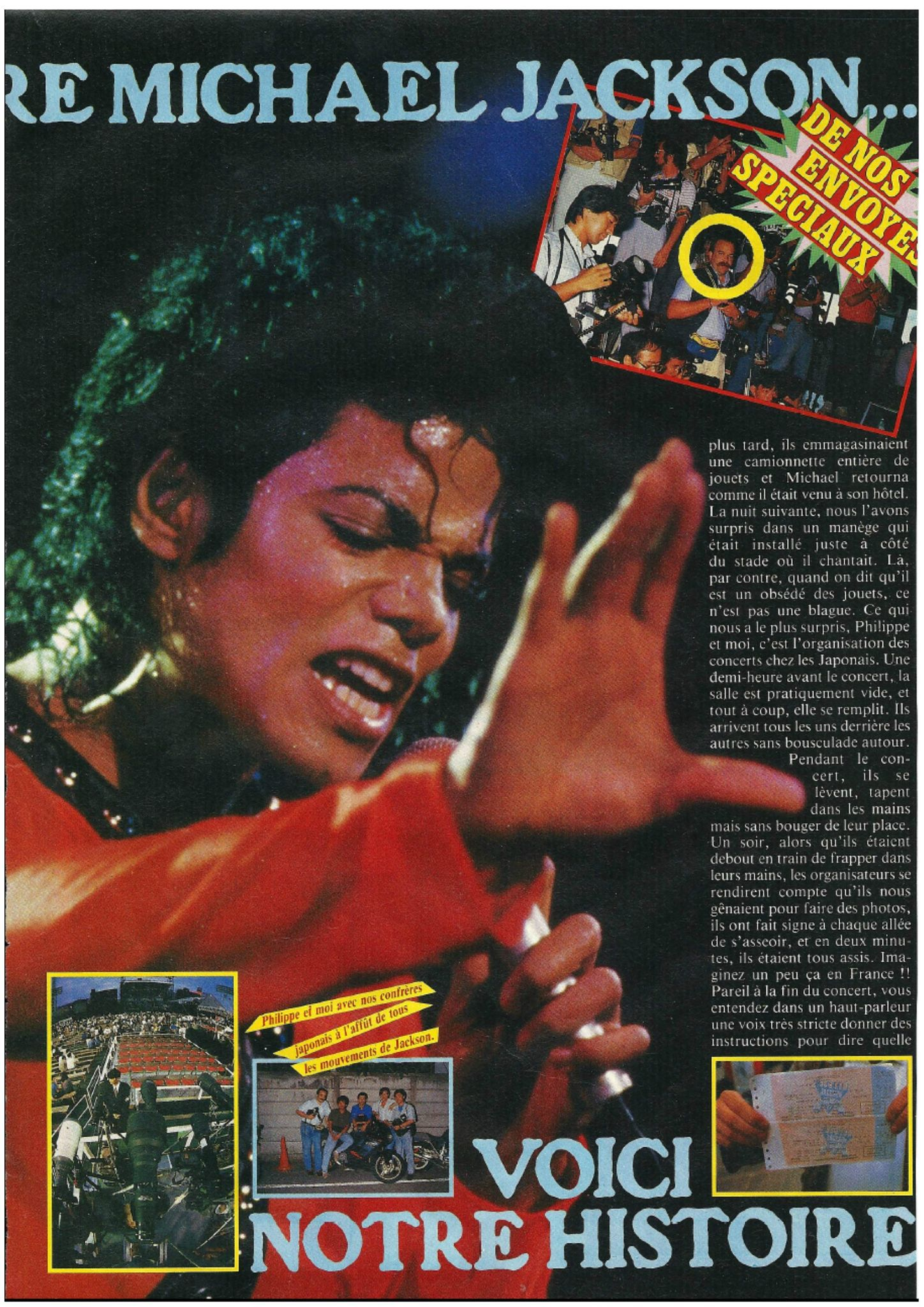 Bad Era Nous Avons Rencontr Michael Jackson Podium