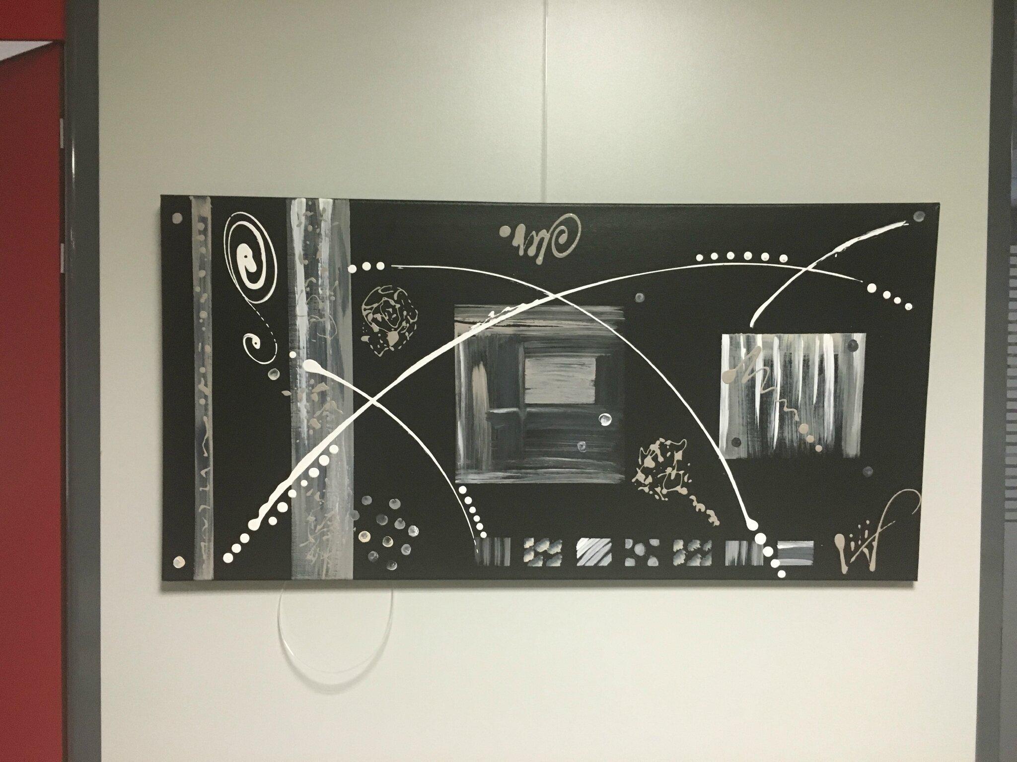 l art contemporain abstrait a travers