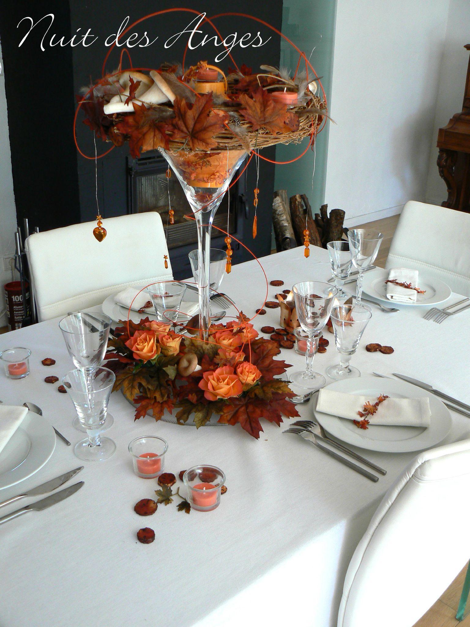 Dcoration De Table Automne Nuit Des Anges