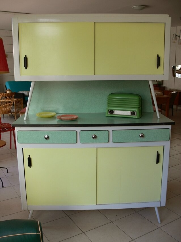 buffet cuisine formica vert photo de