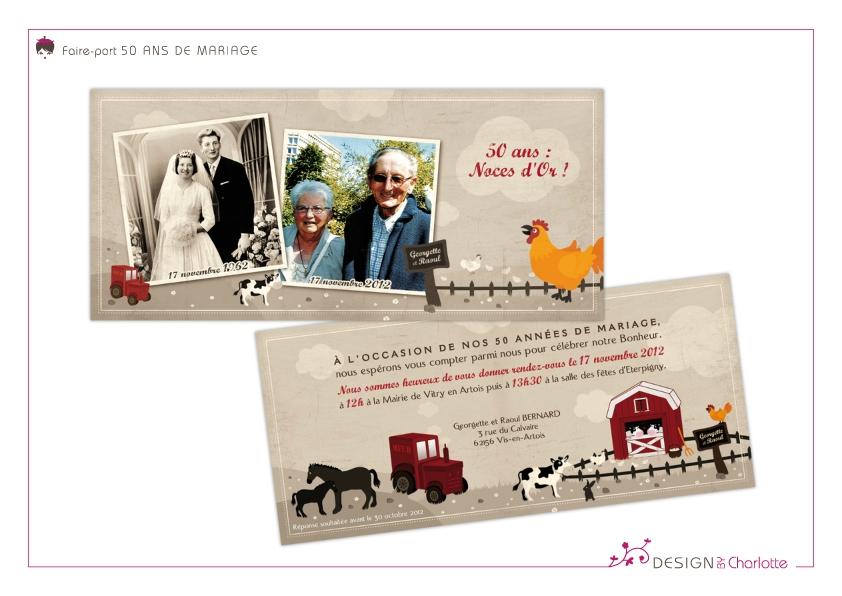 50 ans de mariage faire part