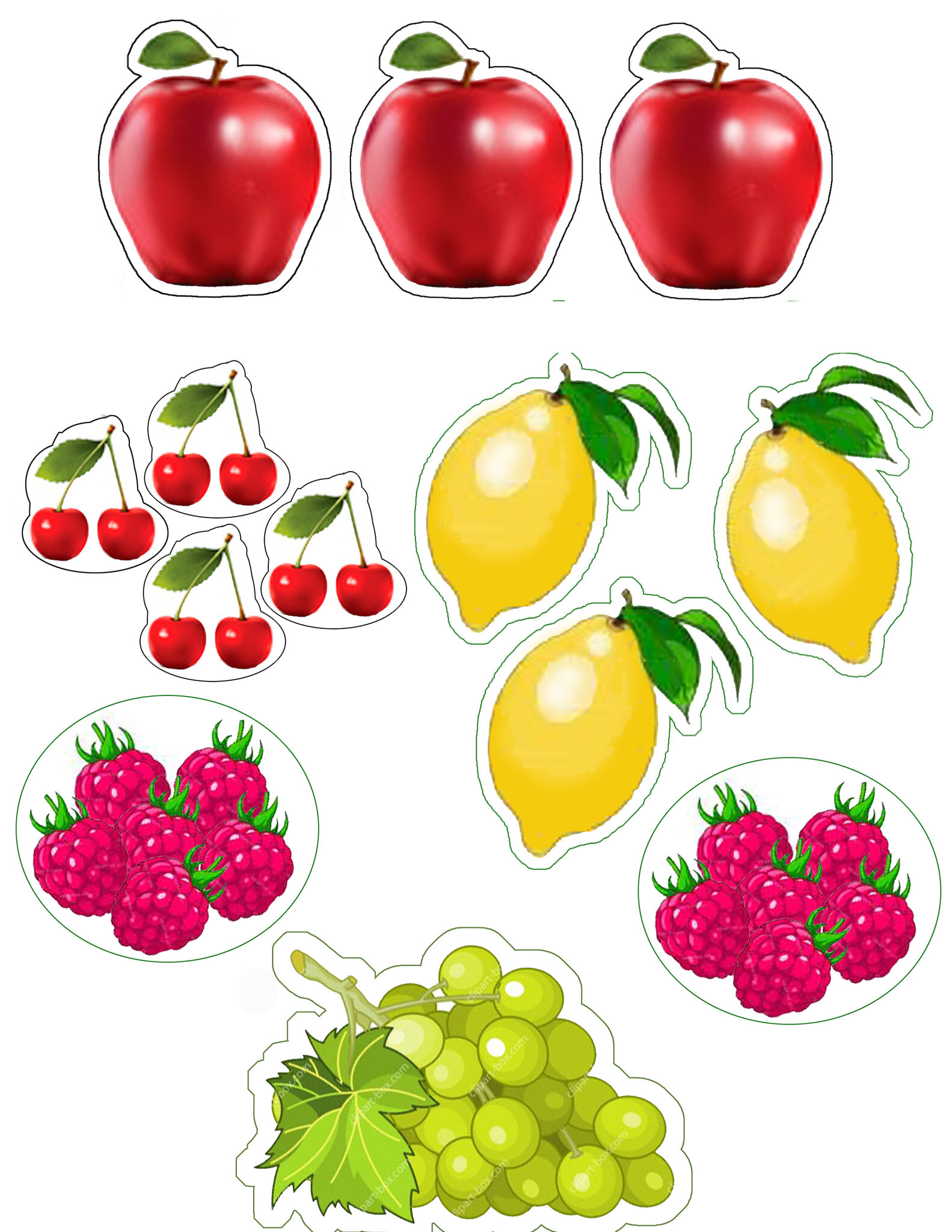 Fruit Themed A4 Page Borders Sb920