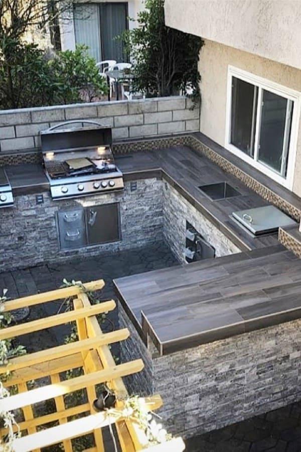 small backyard kitchen designs