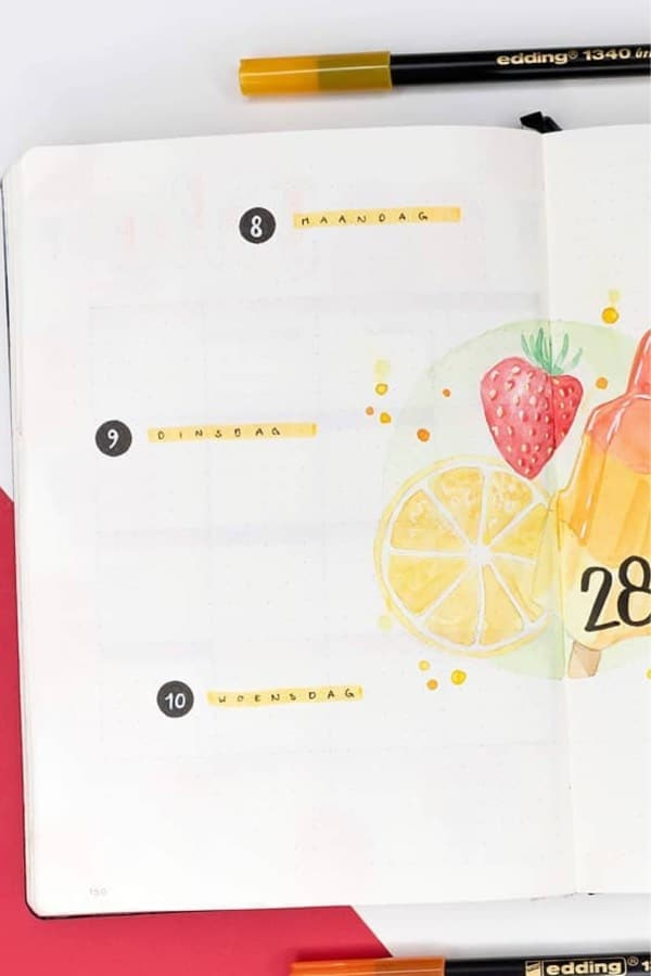 30 Adorable Yellow Weekly Spread Ideas For Bujo Addicts