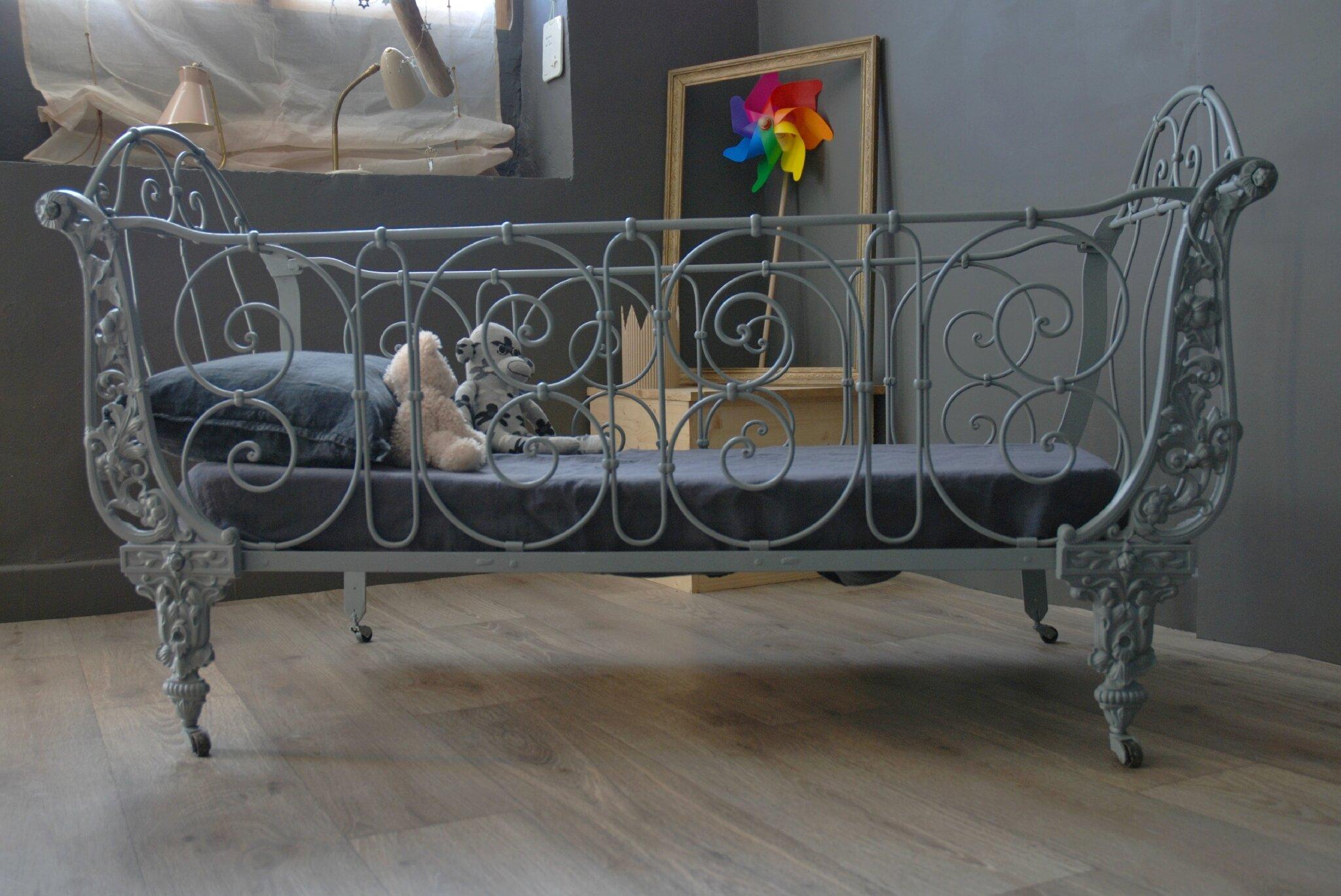 ancien lit en fer forge vendu