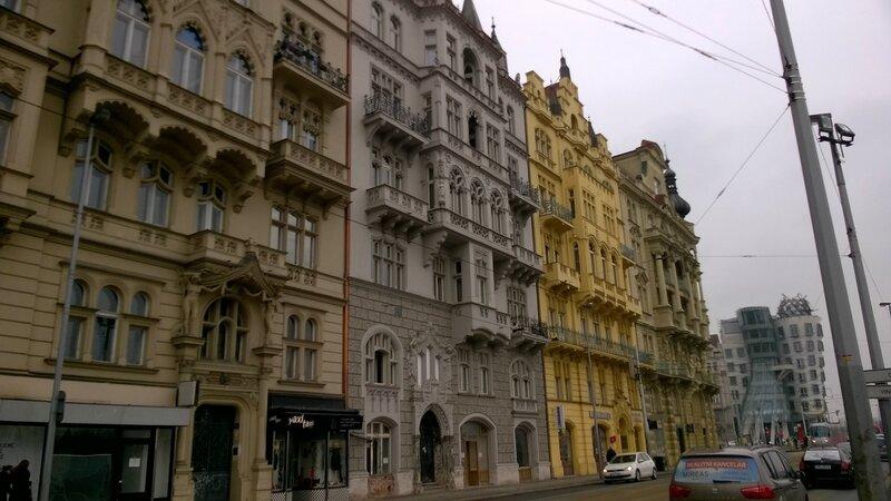Façades dans Nove Mesto, Prague