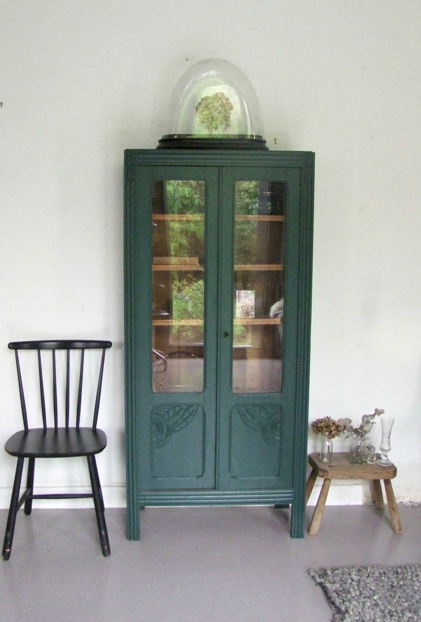 armoire ancienne semi vitree elie