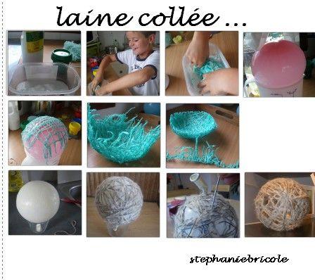 Bouts De Laine Et Ballon De Baudruche Tuto D Une Boule De Noel Stephanie Bricole