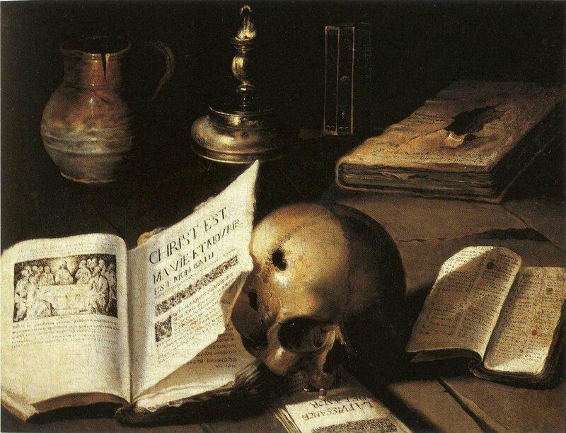 Vanité, hst 48,5 x 61,5cm, Staatliche Galerie Morizburg, Halle