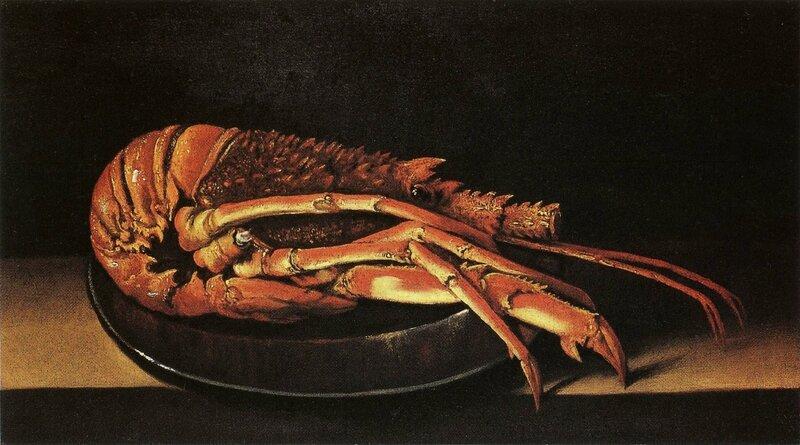 La langouste , hst , 23,5 x 43,5cm - Fondation Rau pour le Tiers monde , Zurich