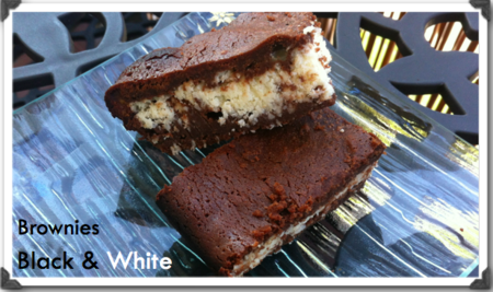 Brownies black and white