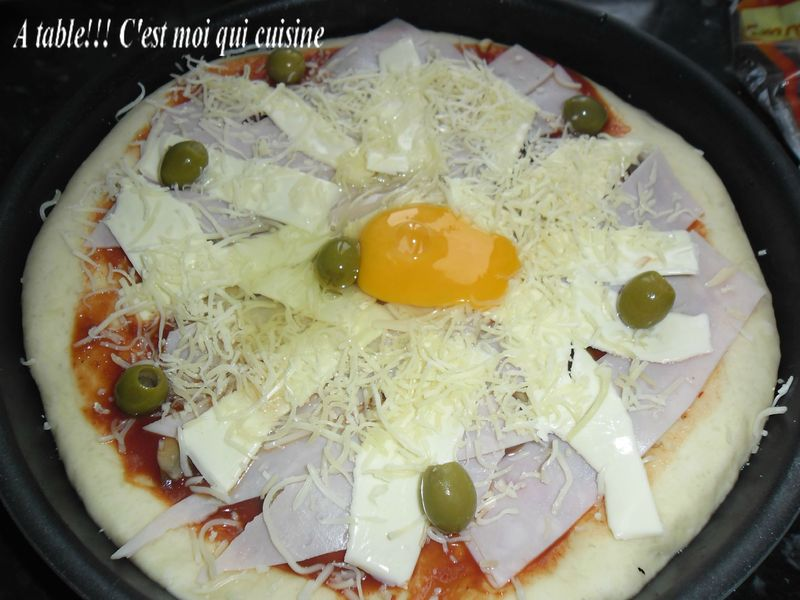 Pizza Toast Au Jambon A Table Cest Moi Qui Cuisine