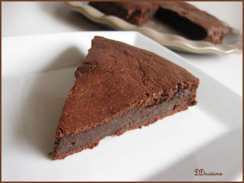 Gteau Fondant Au Chocolat Et La Courgette Peu Sucr Et