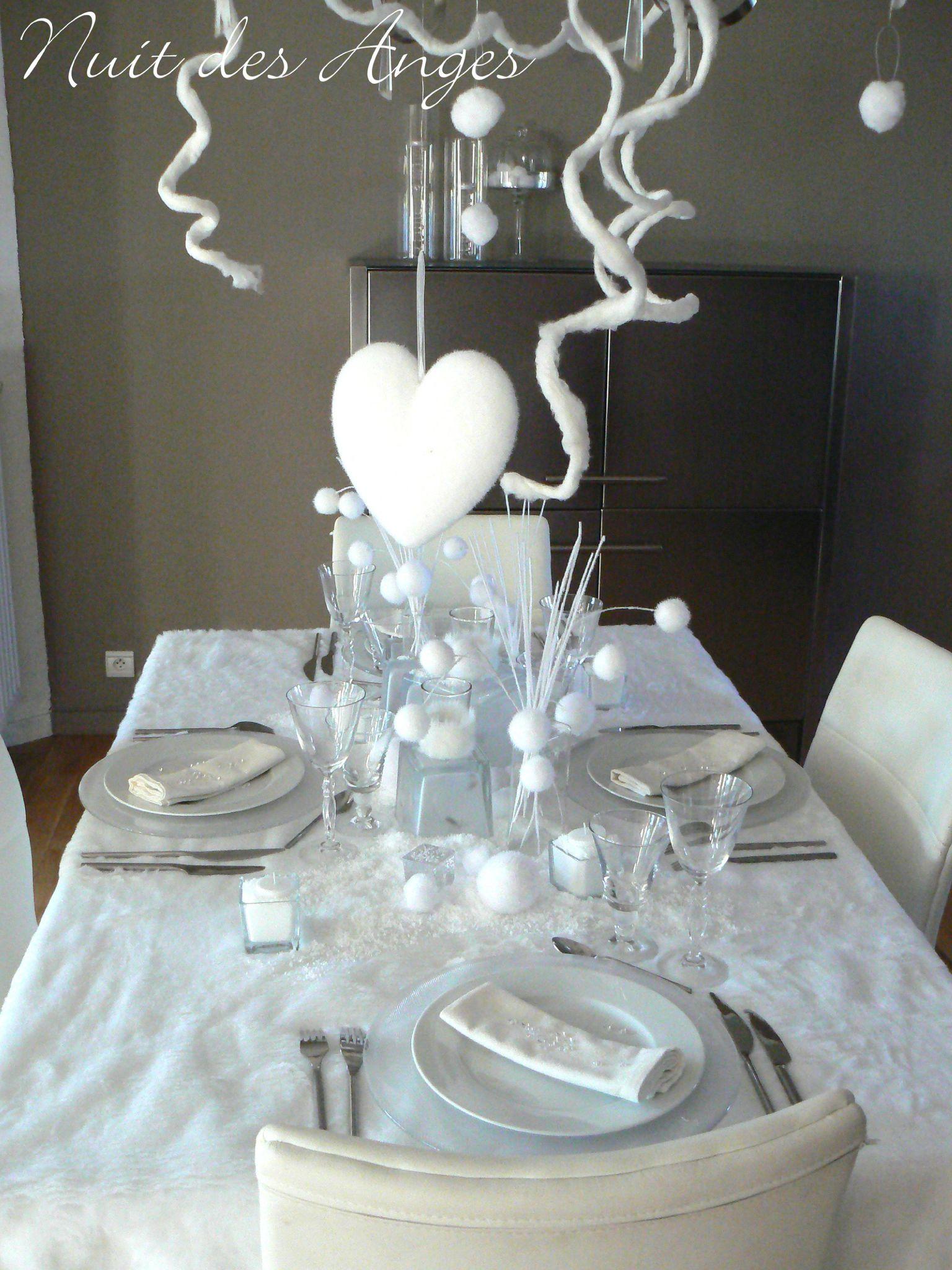 Dcoration De Table Hiver Blanc Nuit Des Anges