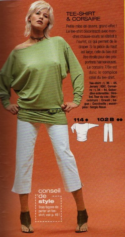 patron t-shirt burda 2005 addicts magazine couture pattern top sewing