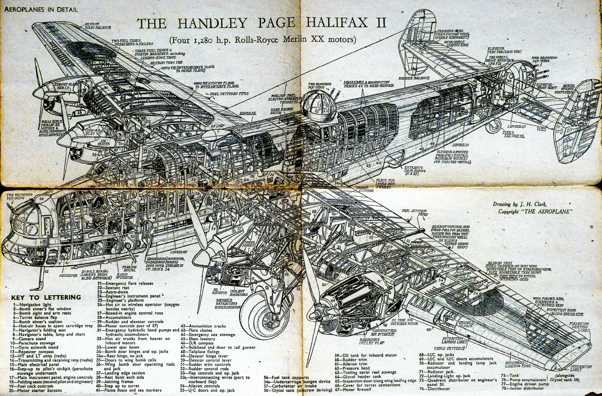 Halifax bomber ted church tail end charlie for L interieur d un avion