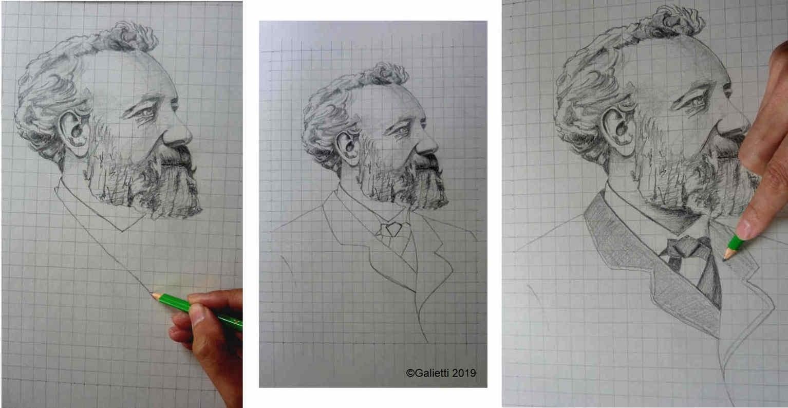 dessiner un portrait d apres une photo