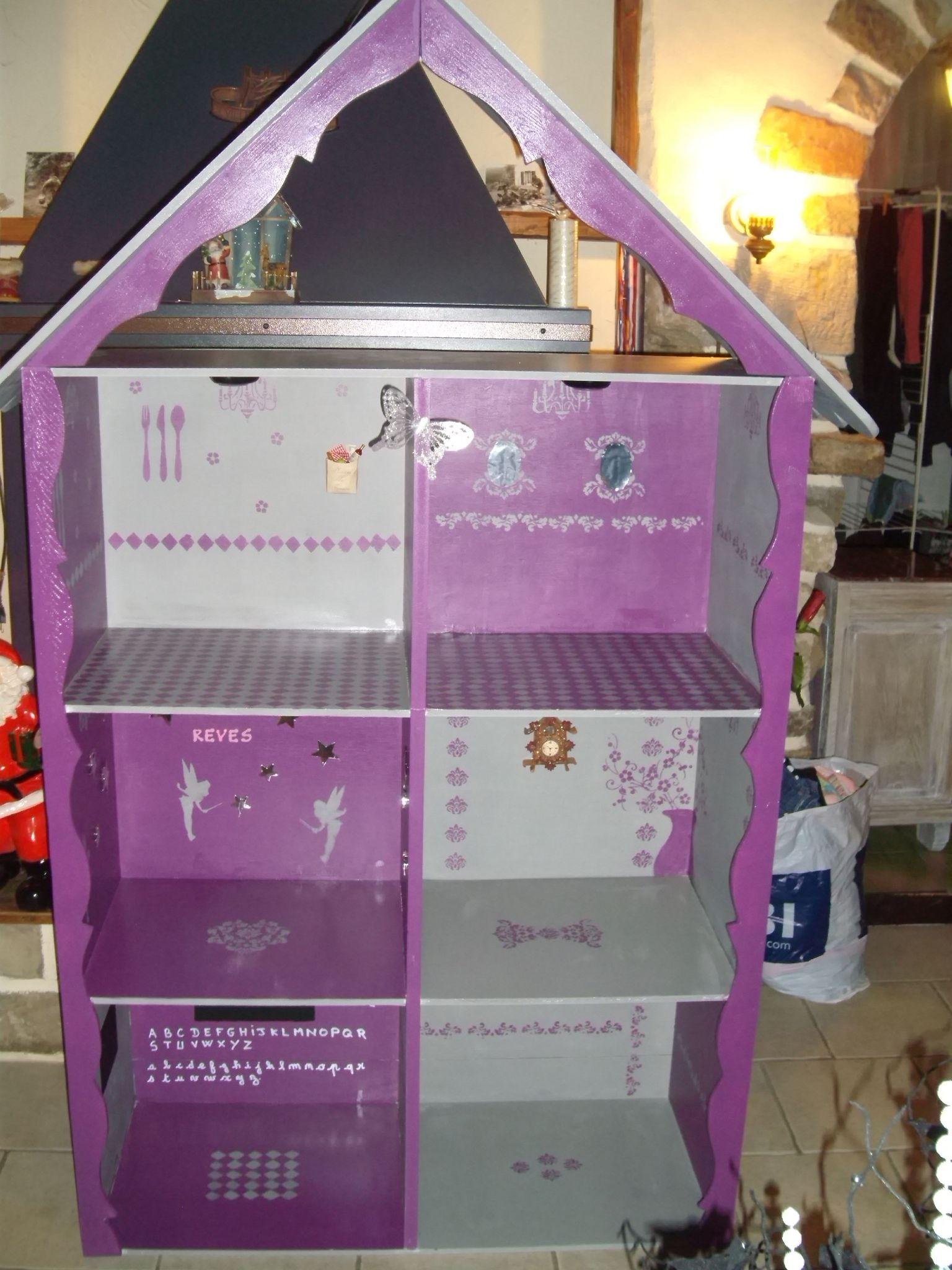 Maison Barbie Bois