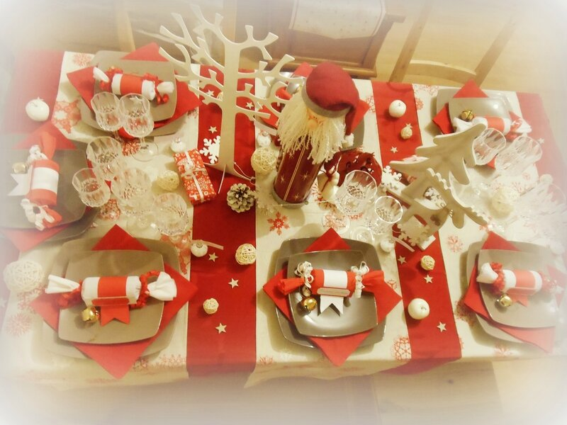 Decoration Table De Noel Fait Main