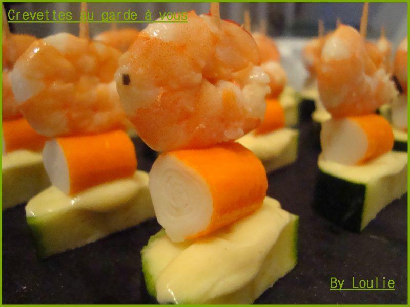 Crevettes Au Garde A Vous Au Bonheur Des Gourmands