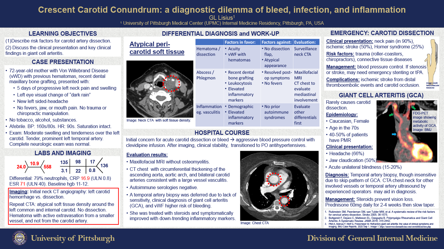 Grace Lisius - PAW-18-Carotid-Crescent-Conundrum-Diagnostic-Dilemma-of-Bleed-Infection-Inflammation