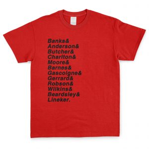 Red & Black Personalised Favourite XI T Shirt
