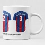 Crystal Palace Personalised Player and Text Mug