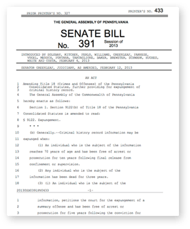 Support Pennsylvania Expungement - Supporting SB391 to ...