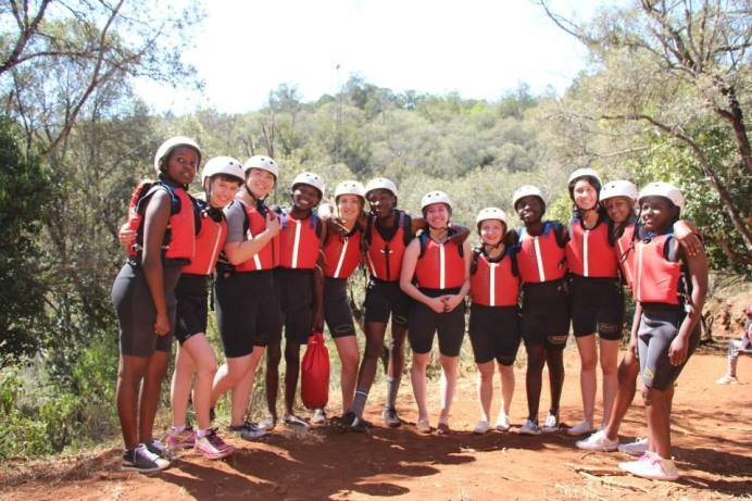 The Butterfly Team in their Aqua Gear ready to plunge into the unknown.  (From Left. Ketty, Theresa, Faith, George, Chelsie, Mageto, Anisa, Tylor, James, Desere, Sanaver and Banice)