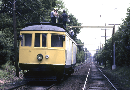 07 topped by a Line Crew near Drexelbrook, June 2, 1984.