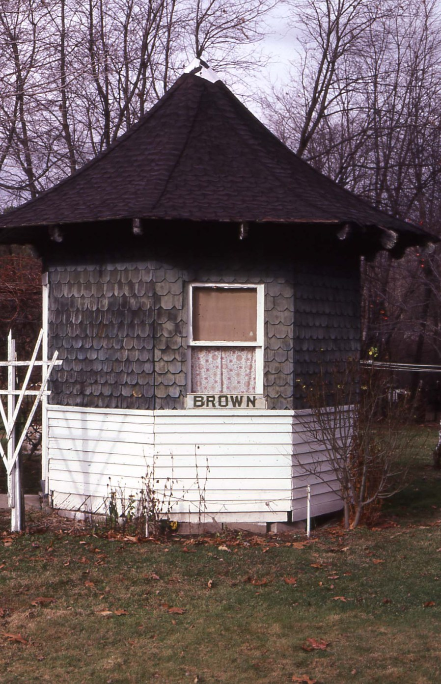 Brown Shelter as first examined in 1984.