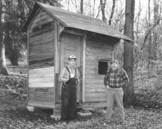West Shelter as found in 1989. (Bruce P. Wells photo © PTM)